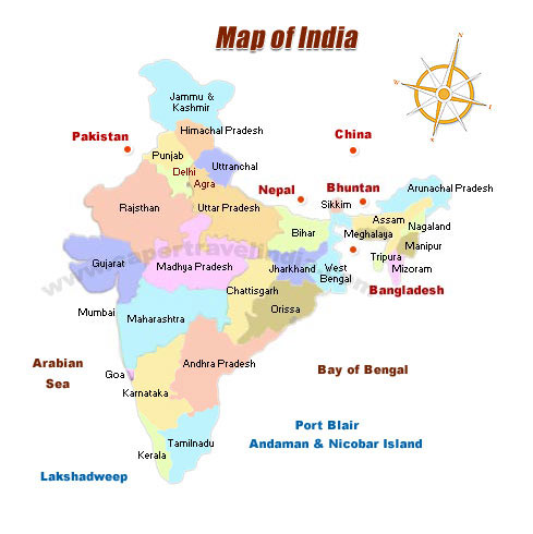 Travel Map of India